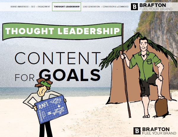 Content marketing strategies are great opportunities to promote thought leadership, when it's part of a broader strategy.
