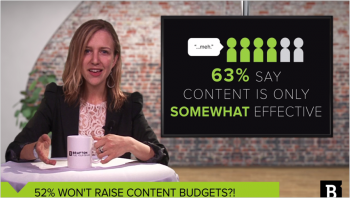 52% of marketers won't increase content budgets, but analysis suggests content stratedy is worth investment. This video explains the content budget divide.