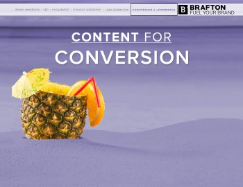 "At the end of the day, your web marketing is measured in conversions. It's the ultimate challenge online: getting the audience you worked hard to attract to take the leap...  <a class=""excerpt-read-more"" href=""http://www.brafton.com/resources/content-goals-conversions/"" title=""Read Content for Goals: Conversions"">Read more »</a>"