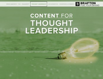 To earn the title of 'thought leader' and the competitive advantage that comes with it, you need to create smart content for your business.