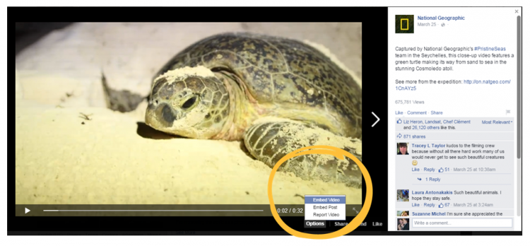 Embed Facebook Video