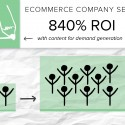 By creating blog content, this ecommerce company generated 840 percent ROI on its content marketing services.