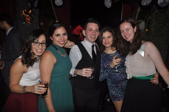 Simonne and her database marketing teammates at Brafton's 2014 holiday party