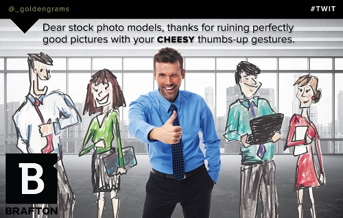 Small Cheesy shutterstock image tweet