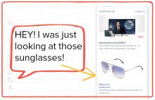 Sunglasses Facebook Example