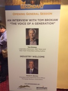 Tom Brokaw Mortgage Assoc Conference
