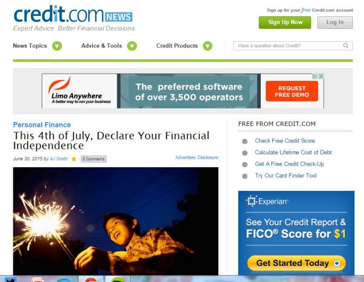 Credit.com Fourth of July