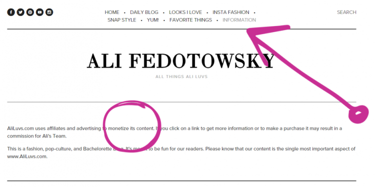 Ali Fedotowsky Content marketing