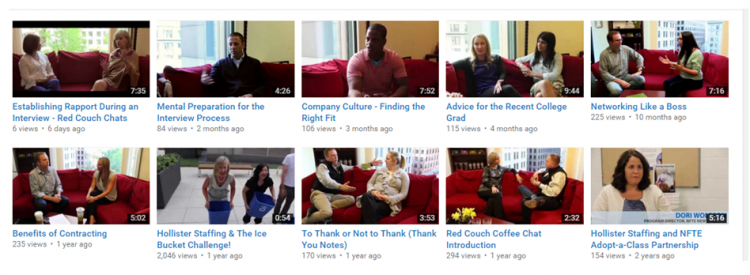 Hollister Staffing Videos on YouTube
