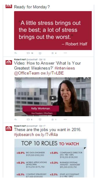 Robert Half Twitter