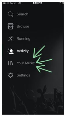 spotify cta button your music