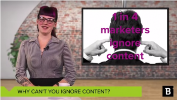 Today I'd like to talk to the one in four marketers who are choosing to forego a content strategy this year about why content is so important for your marketing strategy.