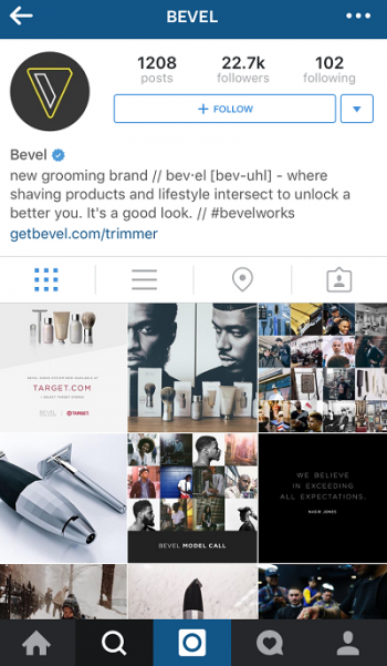Bevel INstagram