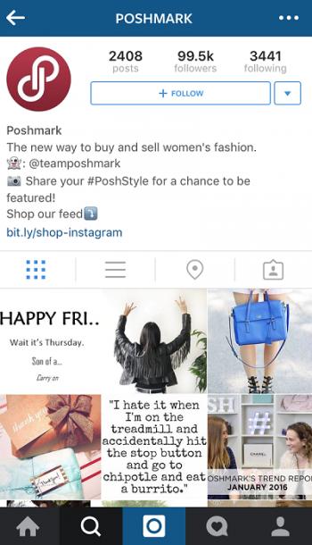 Poshmark Instagram