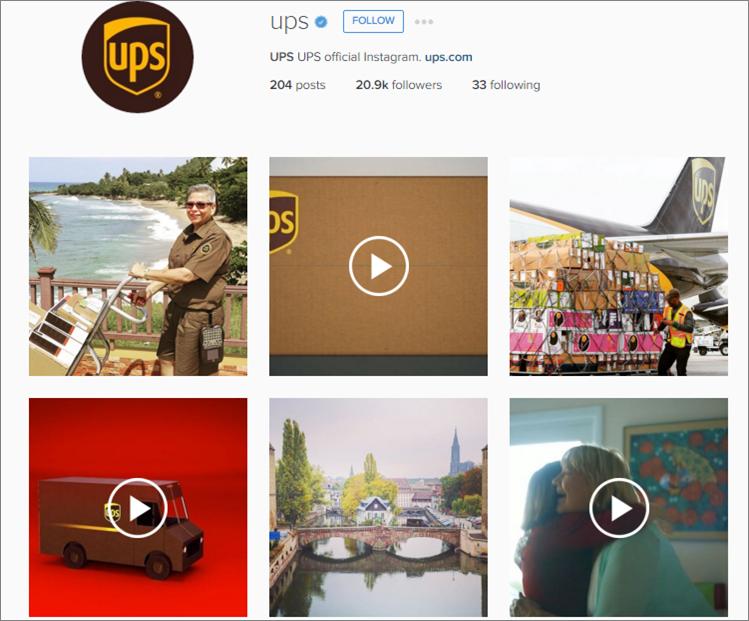 UPS instagram