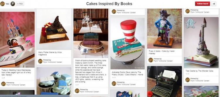 cakes inspired by books