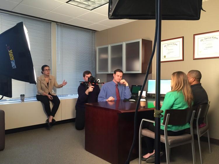 Videography Supervisor Zoe Arniotis directs a scene on-location.