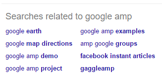 """Related to"" shows other similar Google queries."