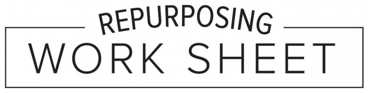 Download our free content repurposing worksheet.