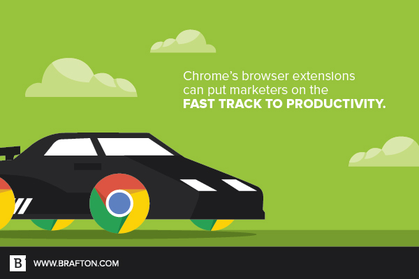 Chrome extensions help marketers reach the finish line.