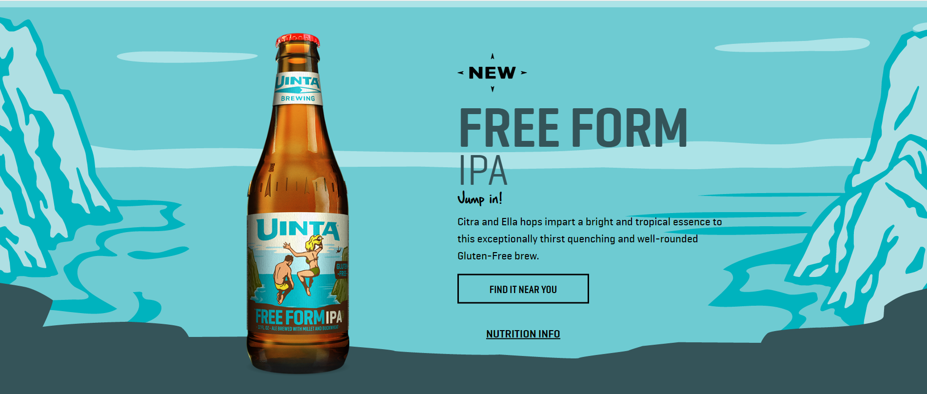 Uinta's Free Form IPA label is as simple as its beer is tasty.
