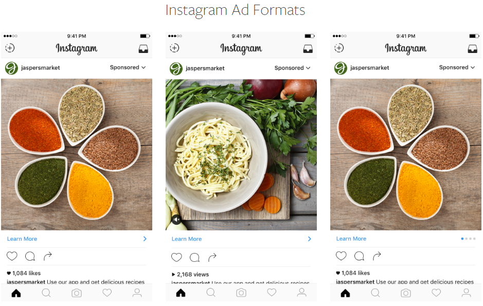 Instagram excels at native ads that blend in.