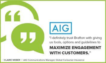 Communications Manager Claire Weber explains how having Brafton as a content marketing partner strengthens AIG's marketing. Watch the testimonial.