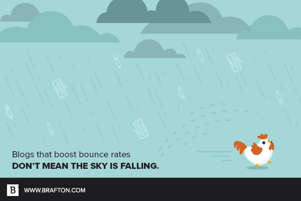 Don't let a high blog bounce rate rain on your parade.