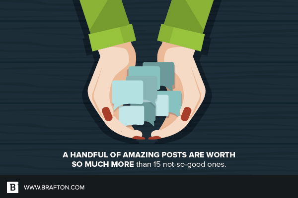 A good post is worth more than a lot of bad ones
