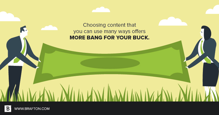 Stretch your dollar further with cost-effective content marketing.
