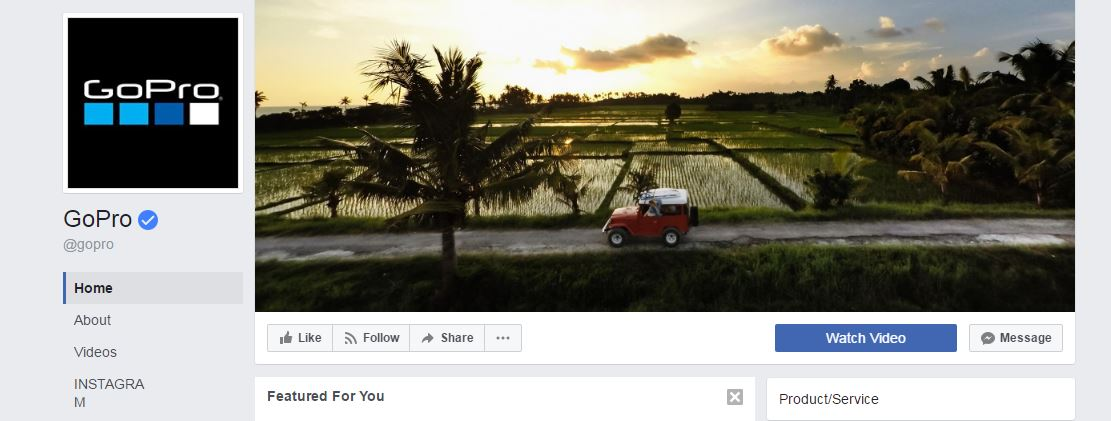 GOPro Facebook social profile