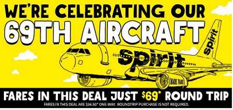 Spirit Airlines custom illustration