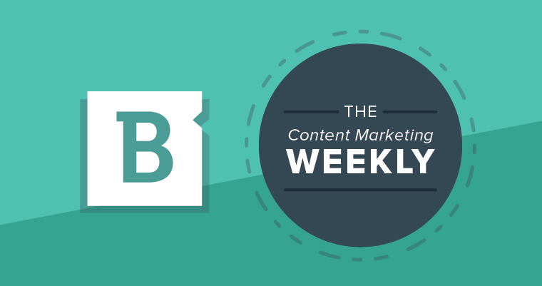 content marketing weekly blue