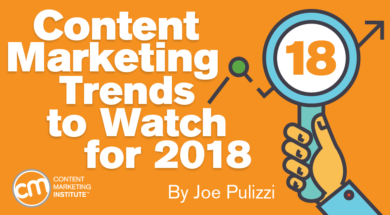 Content Marketing Trends to Watch for 2018