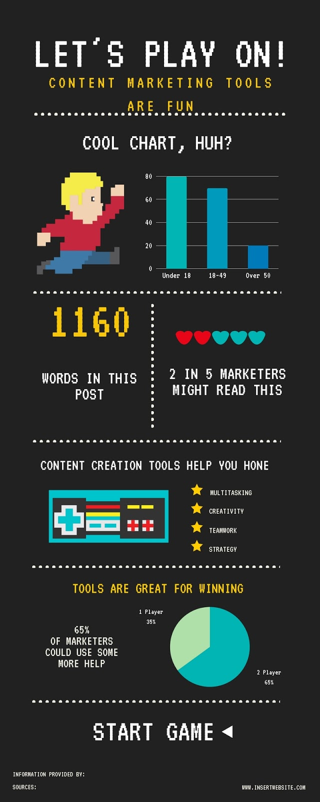 Make your own infographics.