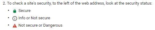 Google site security