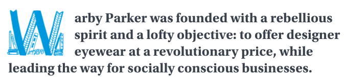 Warby Parker uses digital storytelling examples.