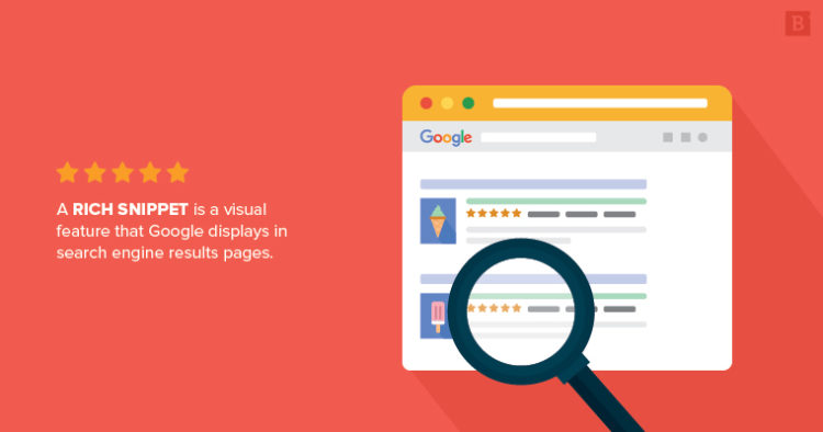A rich snippet is a visual feature that Google displays in search engine results pages.