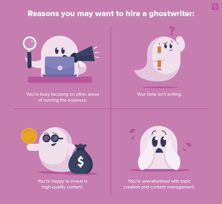 Reasons for hiring a ghostwriter