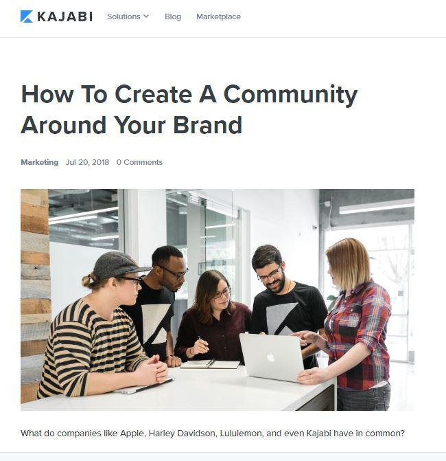 One of the best marketing blogs to follow is Kajabi.