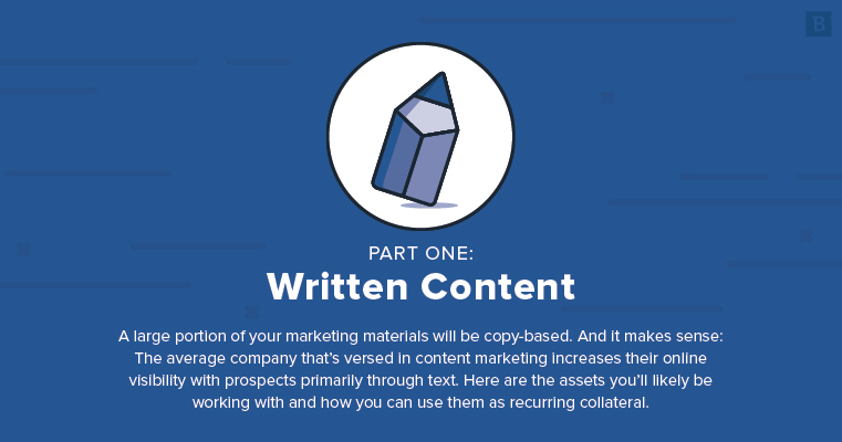 marketing collateral ideas: written content