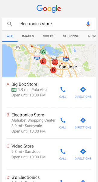 how to make business appear in google maps search