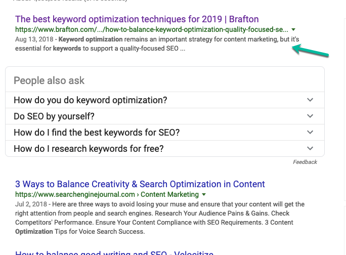 keyword optimization techniques for 2019