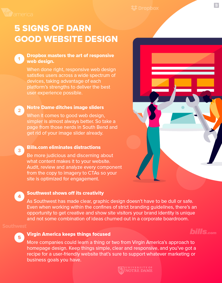 5 Signs Of Darn Good Website Design Plus Examples Brafton