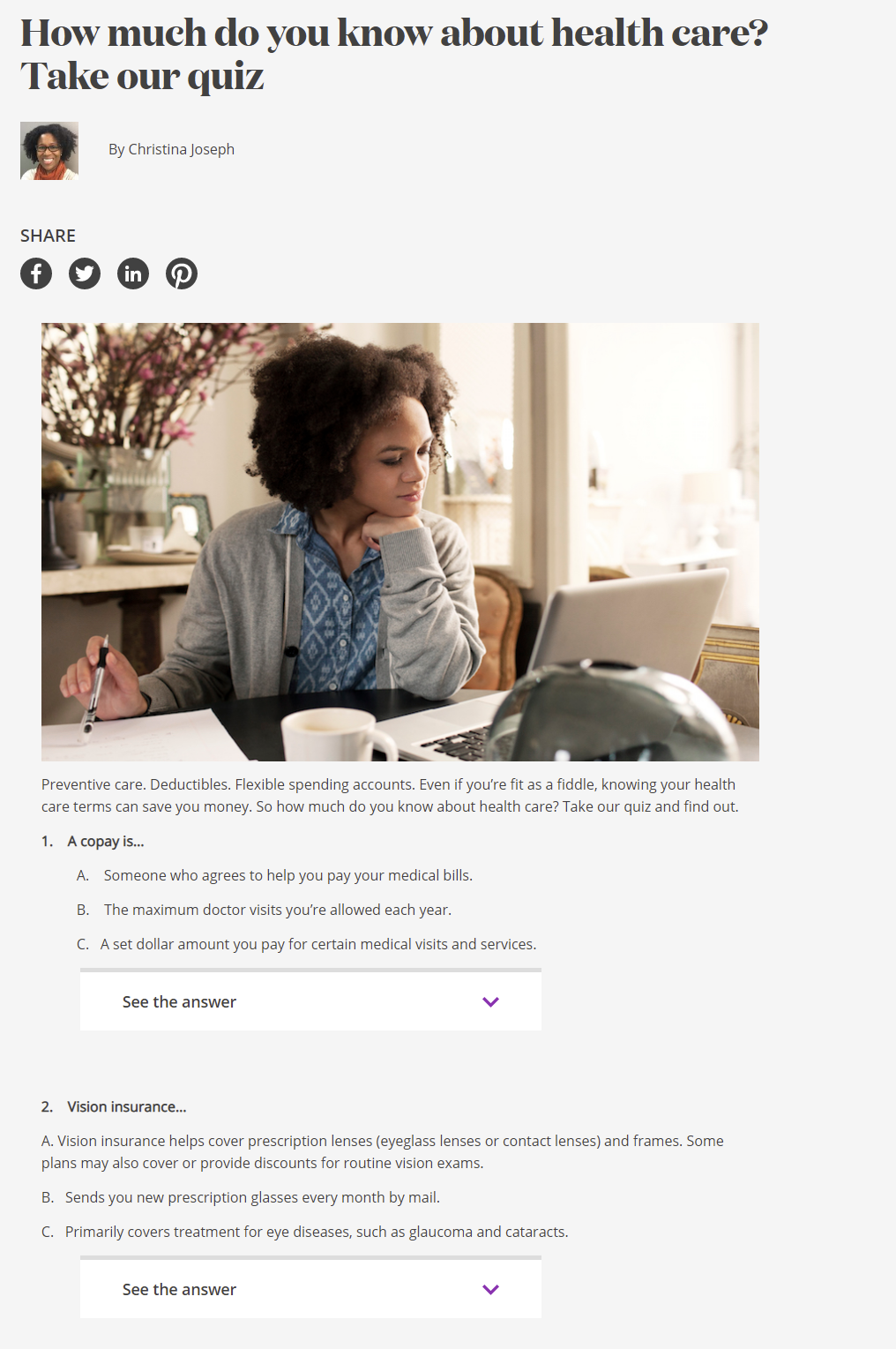 Aetna healthcare and insurance quiz