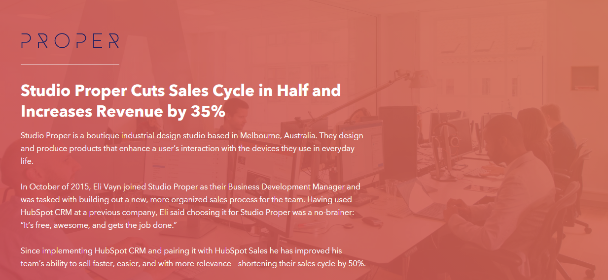 HubSpot case study example